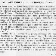 """«M. Laurendeau ou """"L'homme tombé""""»"""