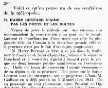 «Harry Bernard jugé par un de ses confrères»
