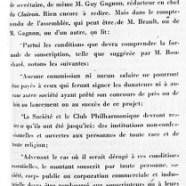 «La Société philharmonique dans de mauvais draps»
