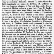 «Les modestes records de M. Adélard Godbout»