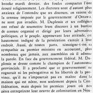 «Maurice Duplessis à travers la province»