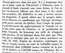 «L'importance du Québec dans l'économie nationale»
