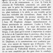 «Maurice Duplessis et les grèves»