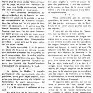 «Après l'incident de Gaulle, l'incident Faribault»