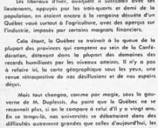 «De Maurice Duplessis à M. Paul Sauvé, rien d'essentiel n'a changé»