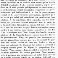 «L'honorable Maurice Duplessis revient grandi de la conférence»