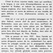 «L'honorable John Diefenbaker en face de la province de Québec»