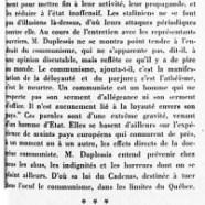 «Maurice Duplessis dénonce encore une fois le communisme»