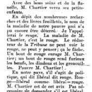 «Malade, Monsieur Chartier»