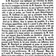 «M. Bouchard triomphe»