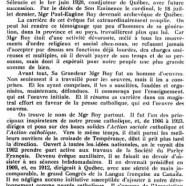 «Mgr Paul-Eugène Roy»