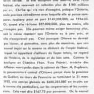«L'impôt provincial sur le revenu, en face d'Ottawa»