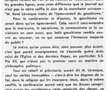 «Le prophète René Lévesque chez nos syndiqués»
