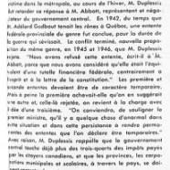 «L'honorable Maurice Duplessis rejette la dernière proposition d'Ottawa»