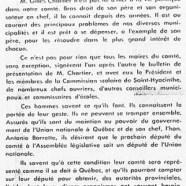 «M. Gilles Chartier et sa campagne dans le comté de Saint-Hyacinthe»