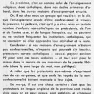 «L'honorable Maurice Duplessis a raison quant à l'enseignement confessionnel»