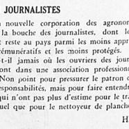 «Et les journalistes»