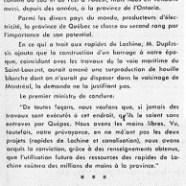 «L'honorable Maurice Duplessis et la situation de l'électricité»