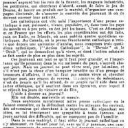«Pour la presse catholique»
