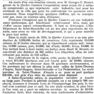 """«La """"Quebec Canners Corporation""""»"""