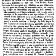 «L'honorable Maurice Duplessis»