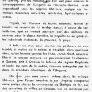 «M. Lionel Chevrier et ses projets de chemins de fer»