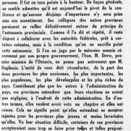 «Maurice Duplessis à Ottawa»