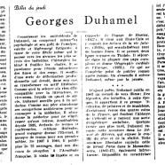 «Georges Duhamel»