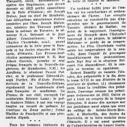 «Le premier congrès de la langue française»