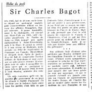 «Sir Charles Bagot»