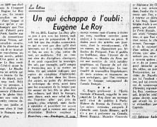 «Un qui échappa à l'oubli : Eugène Le Roy»