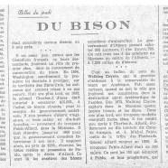 «Du bison»