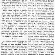 «Origines françaises de la littérature du Texas»