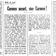 «Carmen meurt, vive Carmen!»