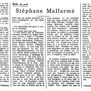 «Stéphane Mallarmé»