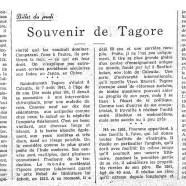 «Souvenir de Tagore»
