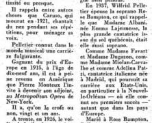 «Wilfrid Pelletier se doit d'écrire ses mémoires sans tarder, sur les artistes de son temps et lui-même»