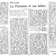 «La Fontaine et ses fables»