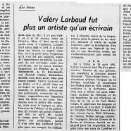 «Valéry Larbaud fut plus un artiste qu'un écrivain»