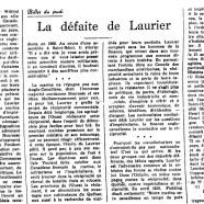 «La défaite de Laurier»