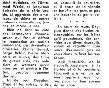 «Un autre livre de Serge Deyglun tandis que la télévision proscrit ses films sur la faune du Québec»