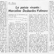 «La poésie vivante : Marceline Desbordes-Valmore»