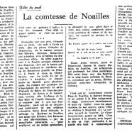«La comtesse de Noailles»