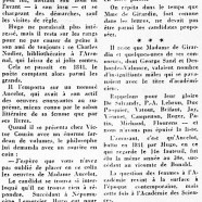 «L'Académie française et les femmes»
