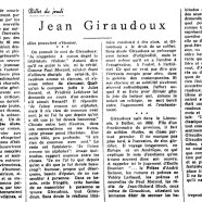 «Jean Giraudoux»