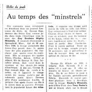 """«Au temps des """"minstrels""""»"""
