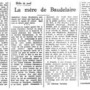 «La mère de Baudelaire»