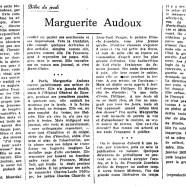 «Marguerite Audoux»