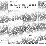 «Histoire du Canada 1841-1847»
