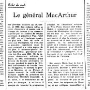 «Le général MacArthur»